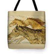Horse Sketch Tote Bag