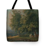 Horses And Cattle By A River Tote Bag