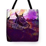 Horses Harmony For Two Animal World  Tote Bag