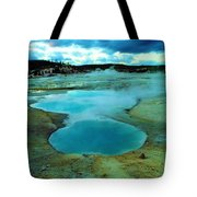 Hot Springs In Yellowstone. Tote Bag