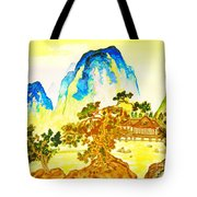 House In Mountains Tote Bag