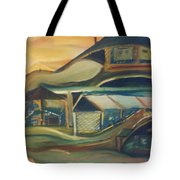 House On A Hill Tote Bag by Gregory Dallum
