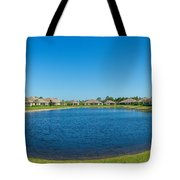 Houses Around Small Lake In North Port Tote Bag