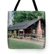 Huffman Log Cabin Tote Bag