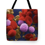 Human Blood Cells Tote Bag by NIH / Science Source