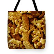 Human Feces Containing Bacteria Tote Bag