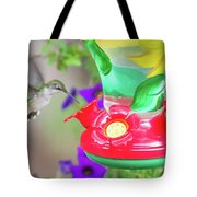 Hummingbird Found In Wild Nature On Sunny Day Tote Bag