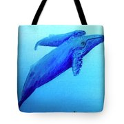 Humpback Mother Whale And Calf #21 Tote Bag