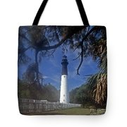 Lh 8-3 Hunting Island Lighthouse Sc Tote Bag