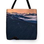 Hurricane Ridge At Sunrise In Olympic National Park Washington Tote Bag