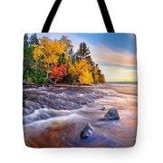 Hurricane River Sunset Tote Bag