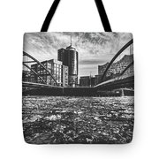 Ice Chunks On The Elbe - Hamburg Tote Bag