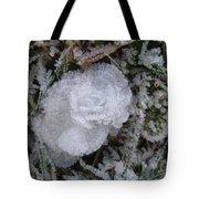 Ice Rose Tote Bag