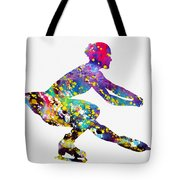 Ice Skater-colorful Tote Bag