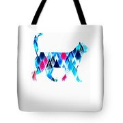 Ice Triangles Cats Tote Bag