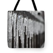 Icicles At Attention Tote Bag