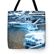 Icy Blue River Tote Bag