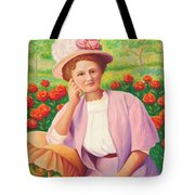 Ida In The Garden Tote Bag