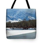 Idaho Winter River Tote Bag