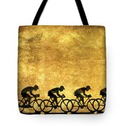 Illustration Of Cyclists Tote Bag