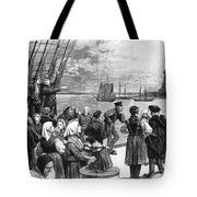 Immigrants On Ship, 1887 Tote Bag