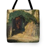 In Front Of A Cottage Tote Bag