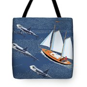 In The Company Of Whales Tote Bag