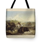 Indians Hunting The Bison Tote Bag