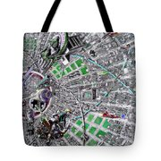 Inside Orbital City Tote Bag