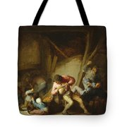 Interior With Drinking Figures And Crying Children Tote Bag
