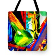 Intersections Abstract Collage Tote Bag