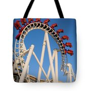 Inverted Roller Coaster Tote Bag