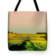 Iowa Cornfield Panorama Tote Bag