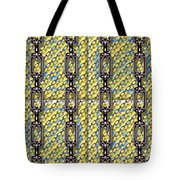 Iron Chains With Glazed Tiles Seamless Texture Tote Bag