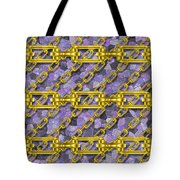 Iron Chains With Mosaic Seamless Texture Tote Bag