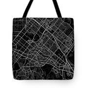 Irvine California Usa Dark Map Tote Bag