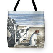 Jack Russel Terrier At The Beach Tote Bag