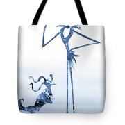 Jack With Zero-blue Tote Bag