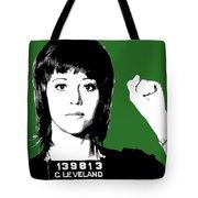 Jane Fonda Mug Shot - Green Tote Bag