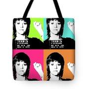 Jane Fonda Mug Shot X4 Tote Bag
