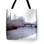 January Winter Day In England  Tote Bag