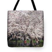 Japanese Cherry Blossom Trees Tote Bag