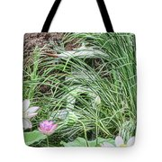 Japanese Lanterns In The Garden Tote Bag