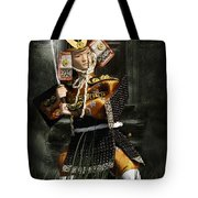 Japanese Samurai Doll Tote Bag by Christine Till