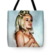 Jayne Mansfield, Vintage Hollywood Actress And Pinup Tote Bag