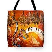 Jazz City Tote Bag by Mark Kazav