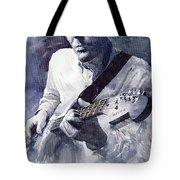 Jazz Guitarist Rene Trossman  Tote Bag by Yuriy  Shevchuk
