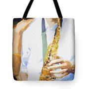 Jazz Muza Saxophon Tote Bag