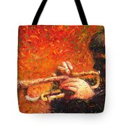 Jazz Trumpeter Tote Bag