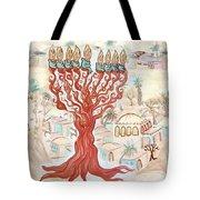 Jerusalem -watercolor On Parchment Tote Bag